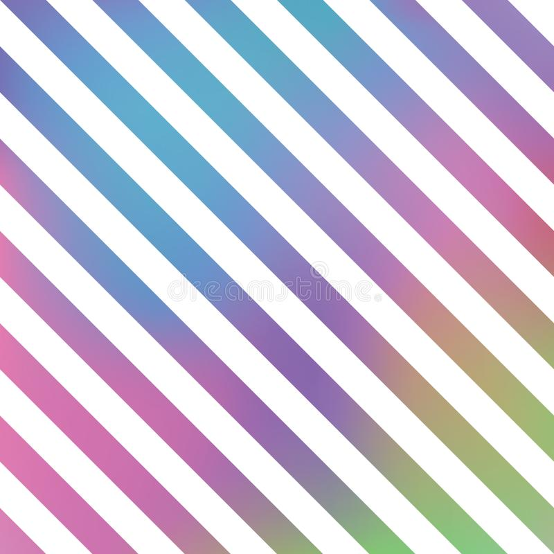Vector striped colorful background. Vector seamless pattern of white stripes. stock illustration