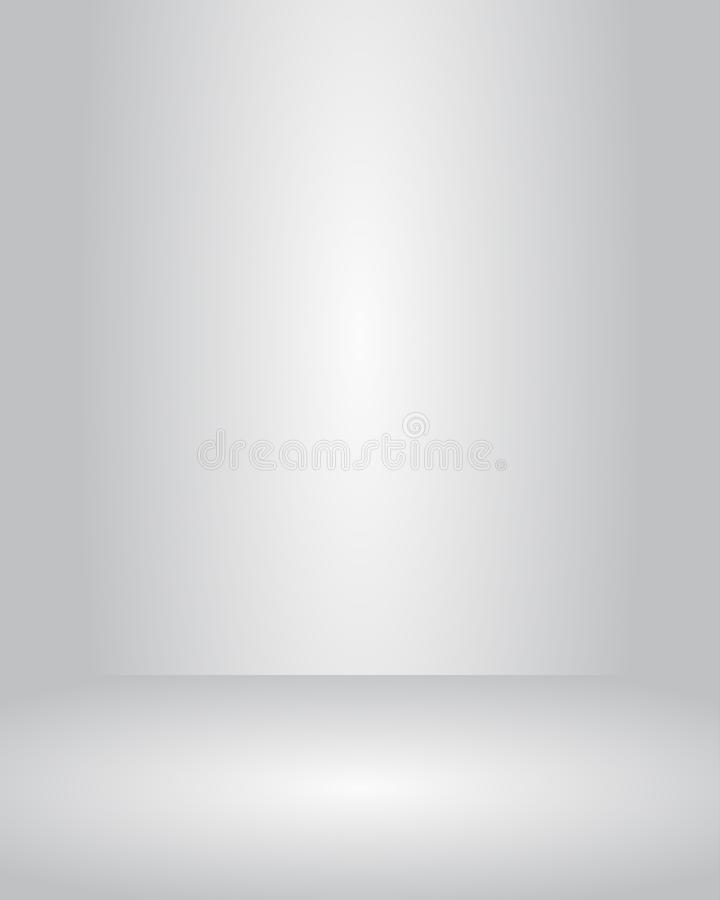 Vector studio room grey gradient background well use for present product. stock illustration