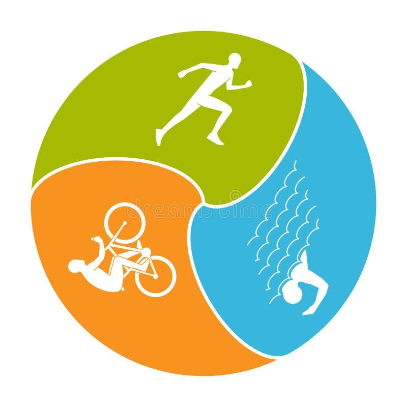 Vector stylish logo for triathlon vector illustration