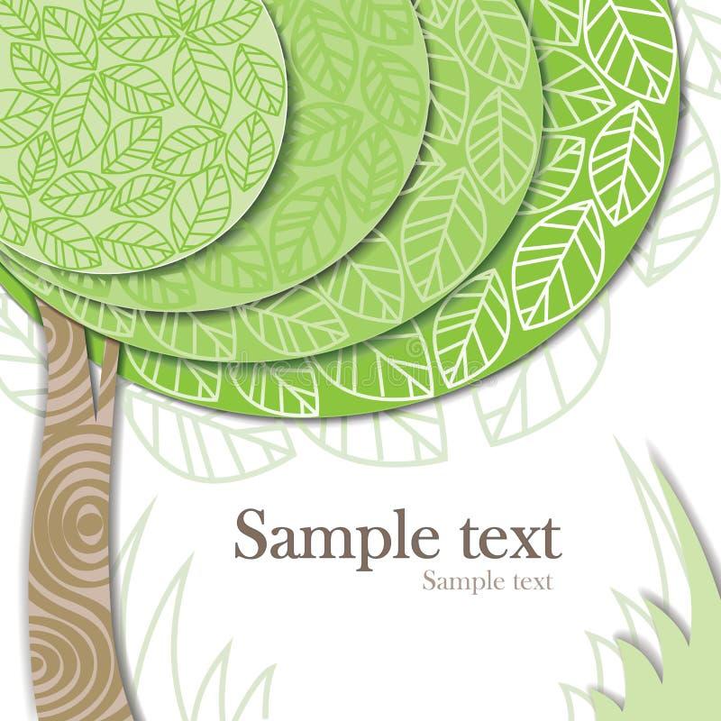Vector stylized green tree royalty free stock photo