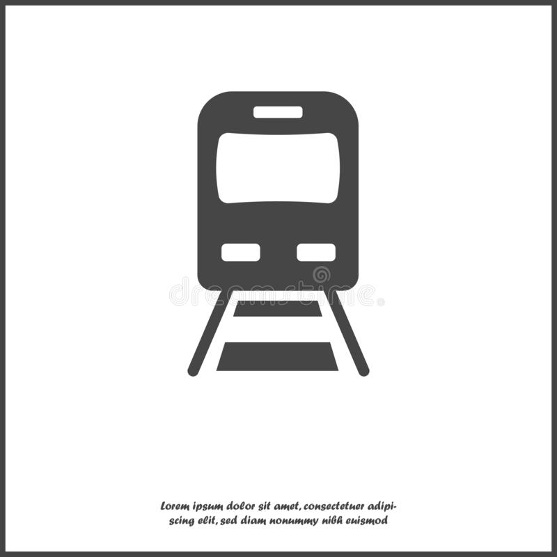 Vector subway icon. Illustration of metro icon on white isolated background. Layers grouped for easy editing illustration. For royalty free illustration