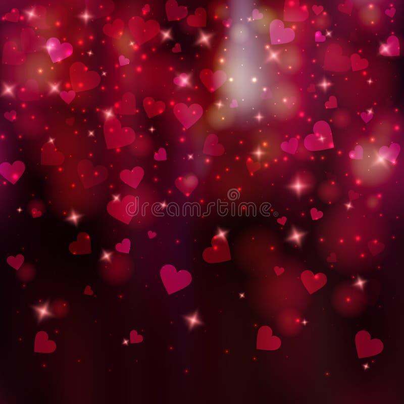 Vector sumário cor-de-rosa roxo vibrante o fundo borrado do dia do ` s do Valentim ilustração royalty free