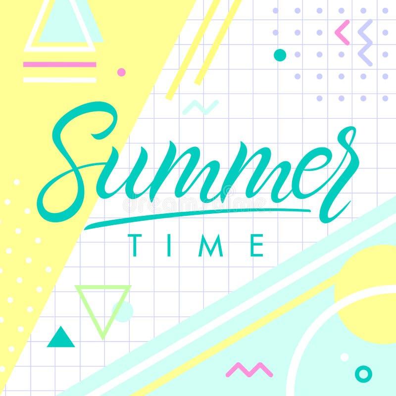Vector summer illustration stock illustration