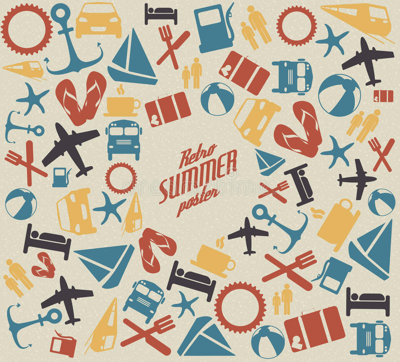 Vector summer pattern / background royalty free illustration