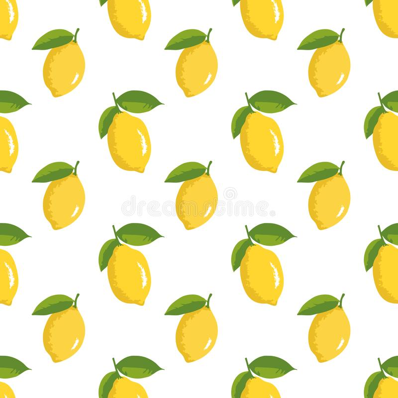 Vector summer pattern with lemons. Seamless texture design. vector illustration