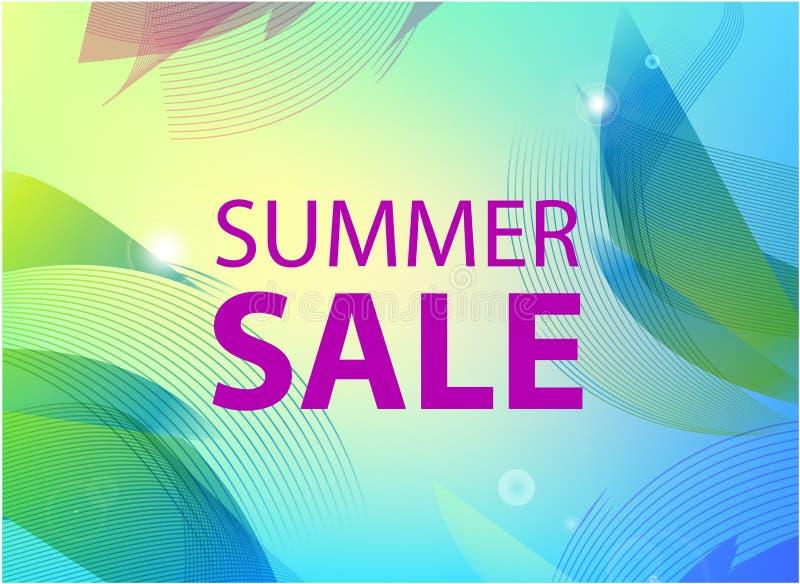 Vector summer sale banner, poster design, ad, flyer, brochure for print or web. Summer time art design, travel, discount royalty free stock images