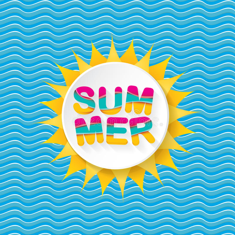 Vector summer sale bright label design template . royalty free illustration