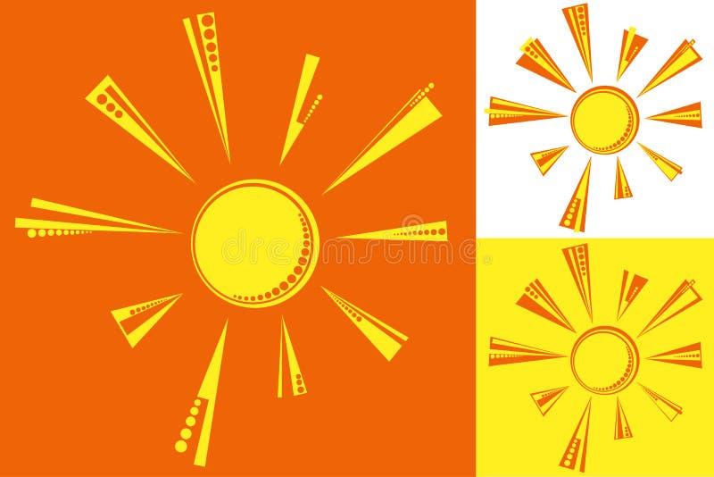 Vector Sun imagenes de archivo