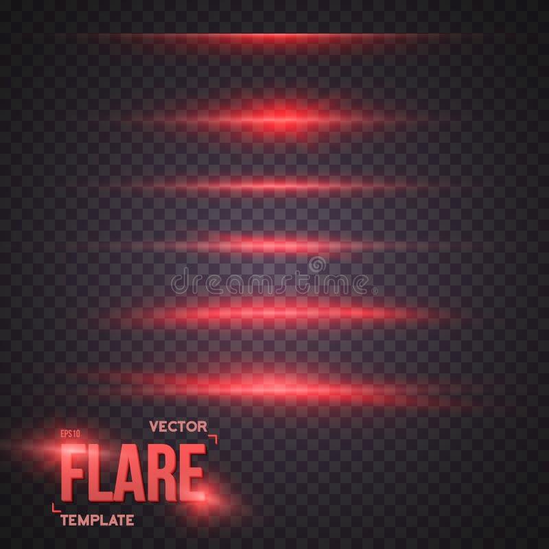 Vector Sun Lens Flare Effect. Transparent Vector Overlay Lens Fl vector illustration
