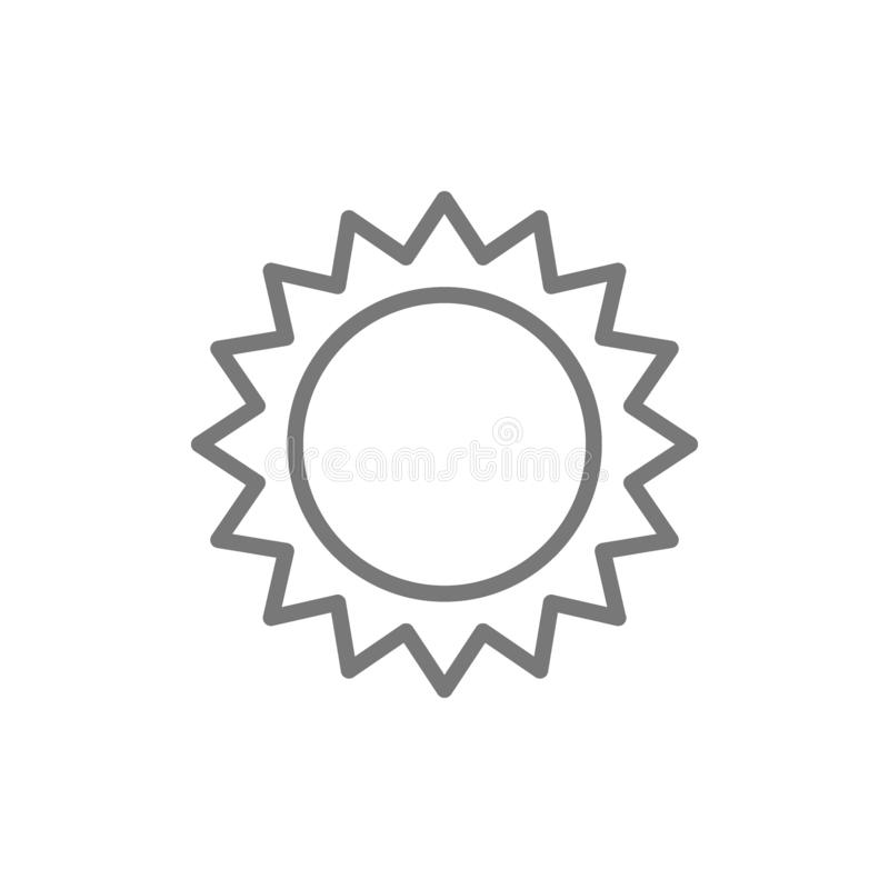 Sun line icon. vector illustration
