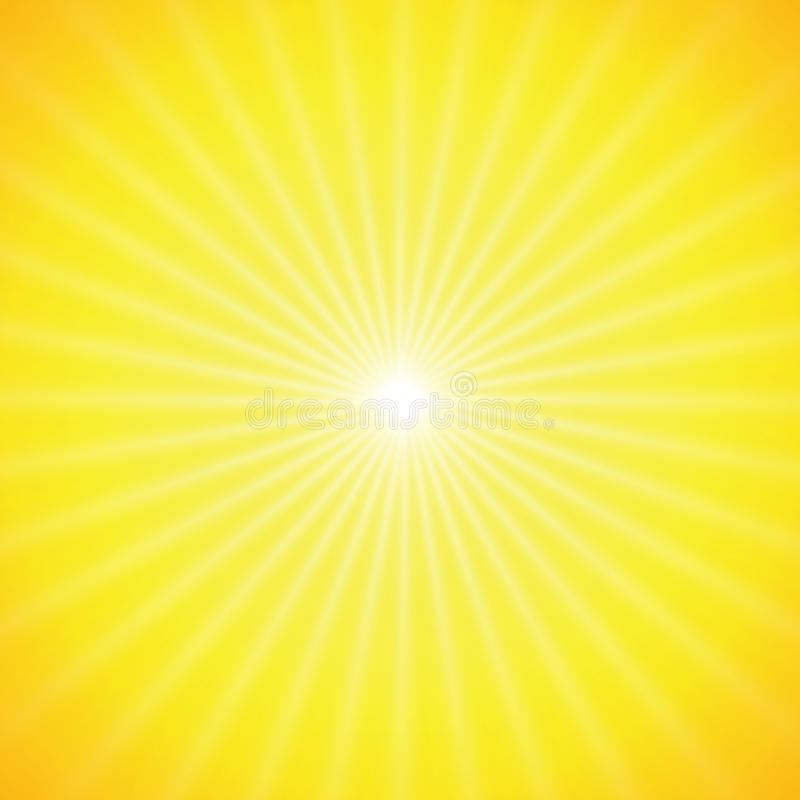 Free Vector Sun On Yellow Background Stock Image - 14883231