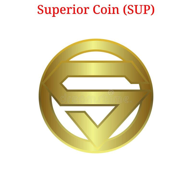 Vector Superior Coin (SUP) logo royalty free illustration