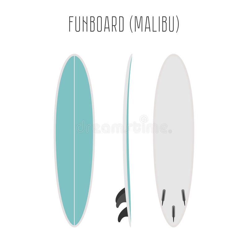 Vector surf fun board with three sides royalty free illustration