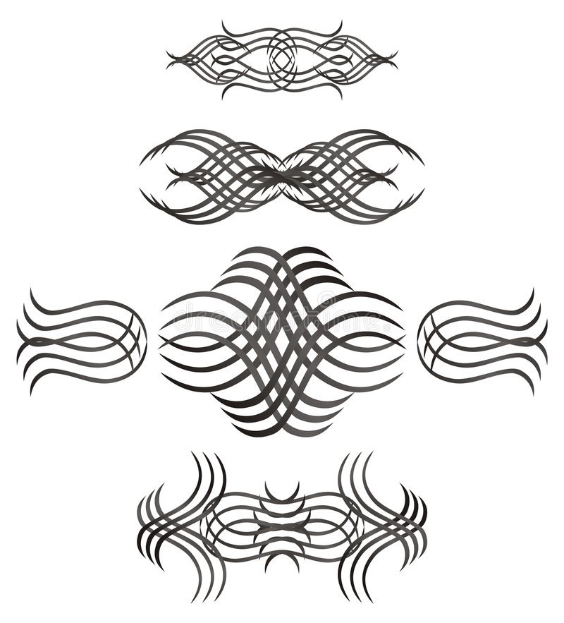 Vector swirls. Collection of vector swirls in black color vector illustration