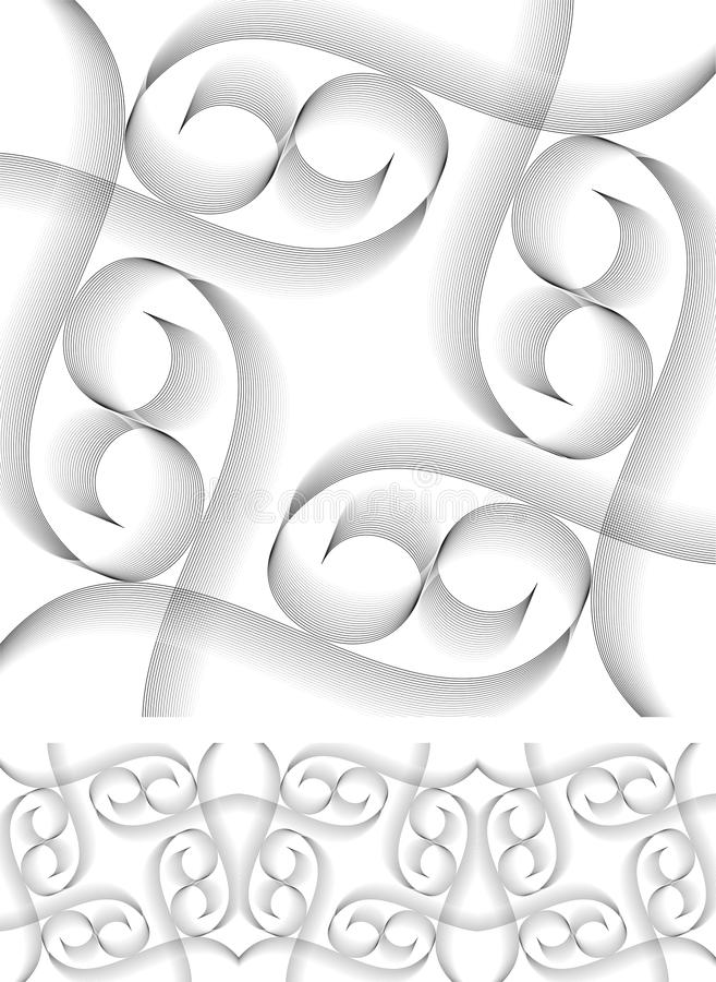 Download Vector Swirly Border And Object Stock Vector - Image: 26529221