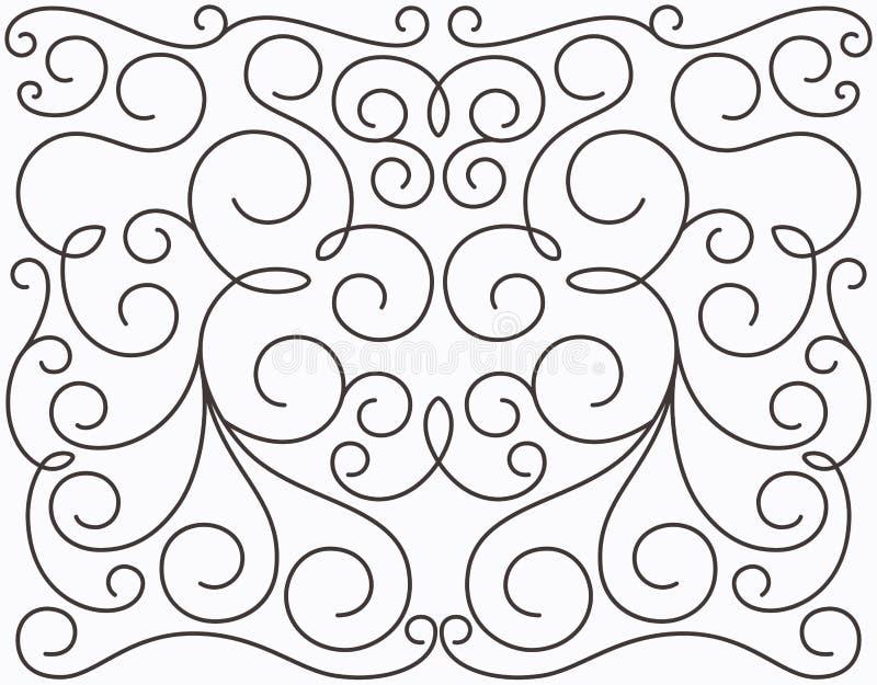 Download Vector Swirly Symmetric Design Stock Vector - Image: 24114875