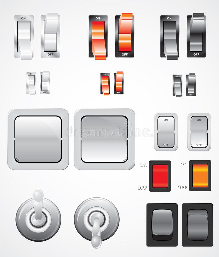 Download Vector Switches Set stock vector. Illustration of power - 20321516