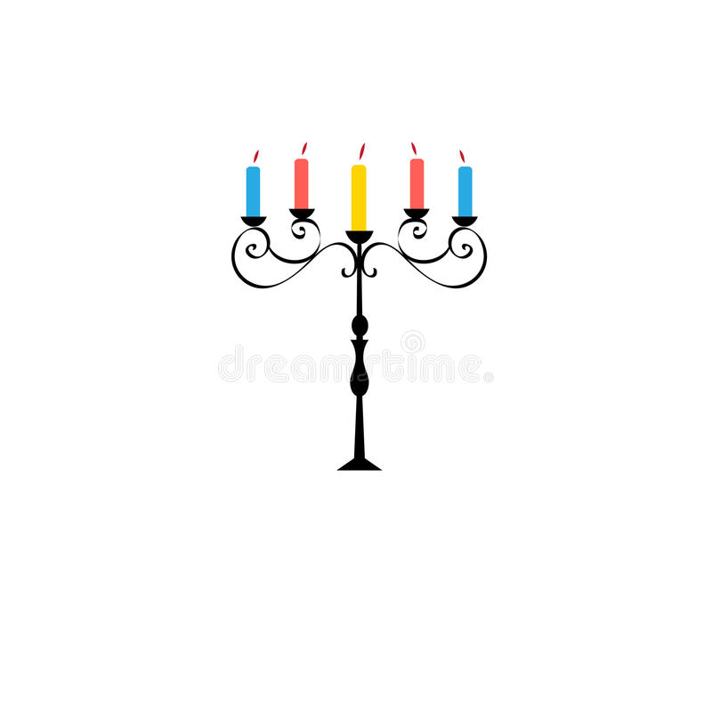 Vector symbol of a beautiful candlestick vector illustration