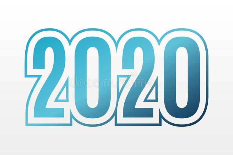 2020 vector symbol. Happy New Year illustration for decoration, celebration, winter holiday, infographic, business, design royalty free illustration
