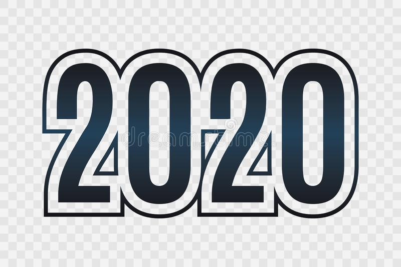 2020 vector symbol. Happy New Year illustration for decoration, celebration, winter holiday, infographic, business stock illustration