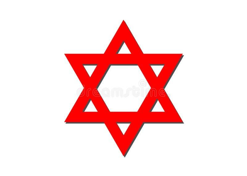 Vector Symbol Of Judaism Religion Red Star Of David Stock Vector