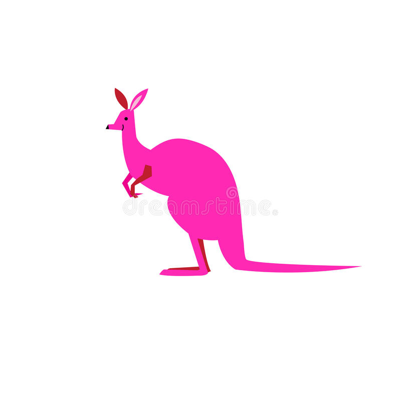 Vector symbol of a kangaroo vector illustration