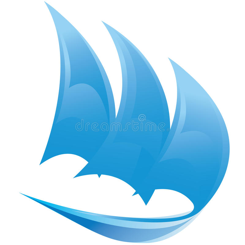 Vector Symbol Of Sailing Boat Stock Photo