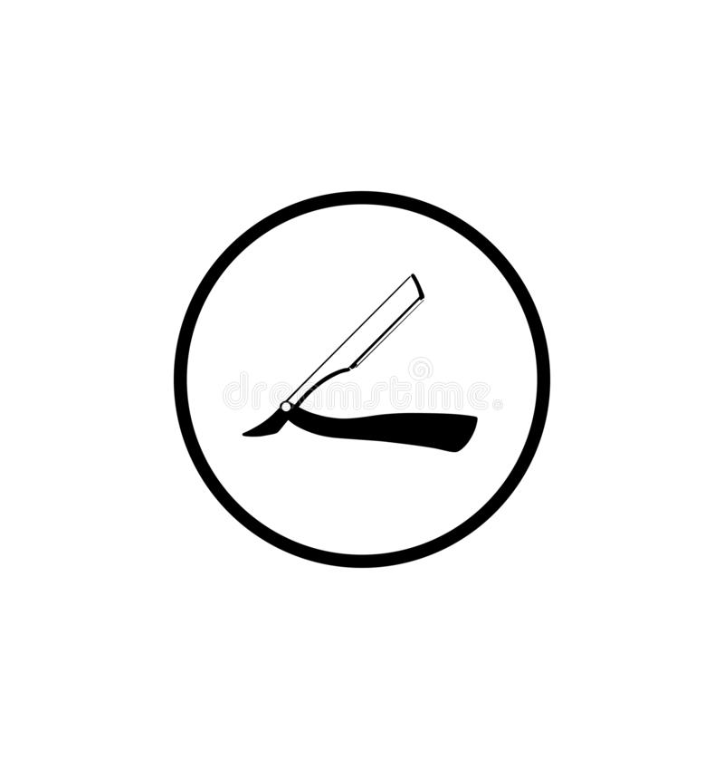 Straight razor vector symbol.Barber icon. royalty free illustration