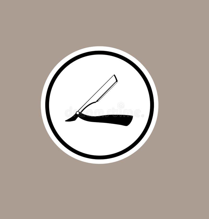 Straight razor vector symbol.Barbershop icon. vector illustration