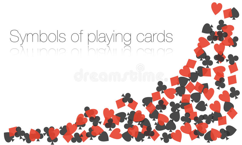 Vector symbols of playing cards. On a white backgrounds vector illustration