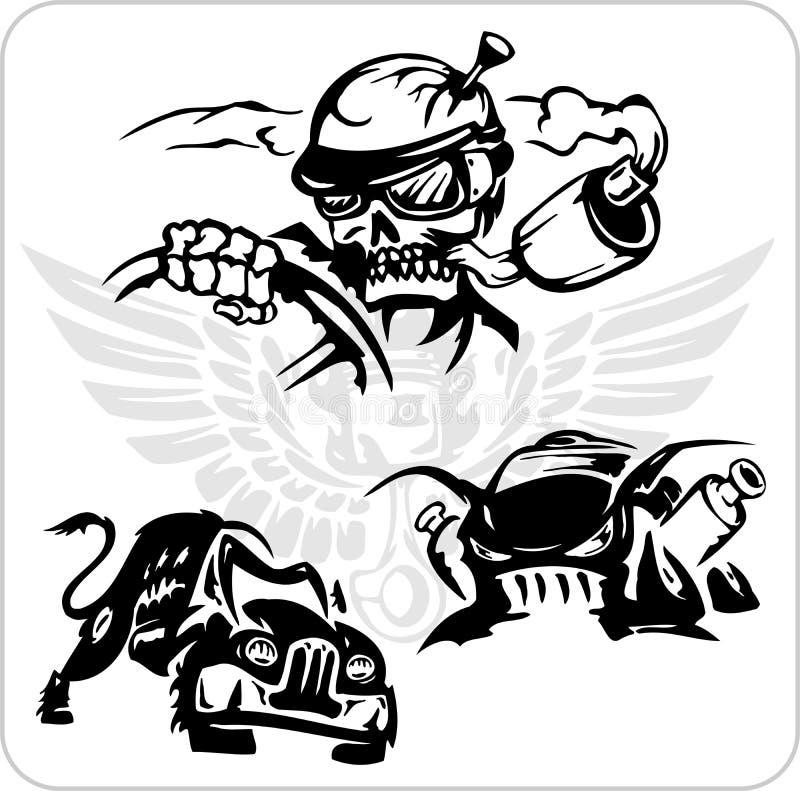 Vector Symbols Set For Trucks And Cars Stock Vector Illustration