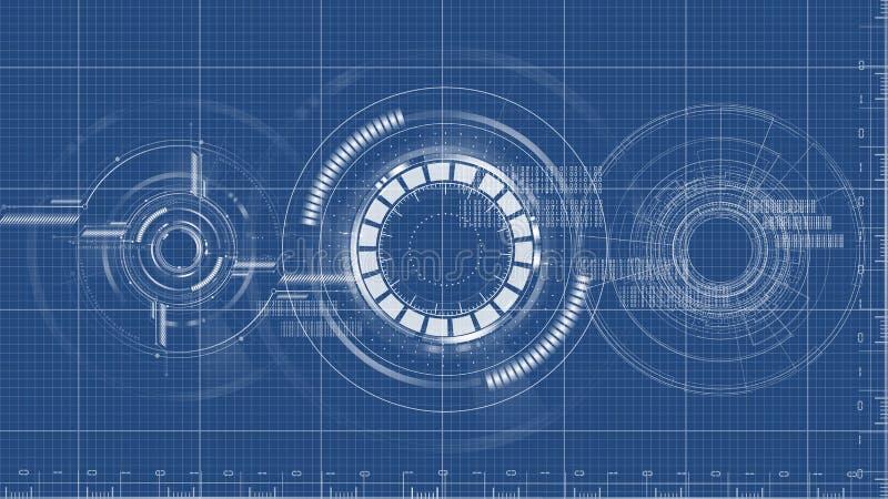 Vector técnico del fondo del dibujo del modelo tecnológico libre illustration
