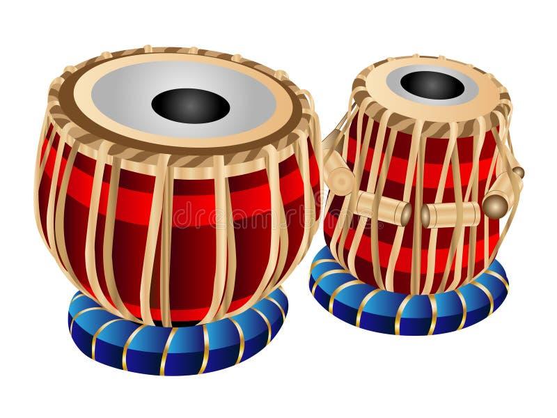 Vector Tabla Drums. Vector Illustration Clipart Cartoon Indian Musical instrument Tabla Drums royalty free illustration