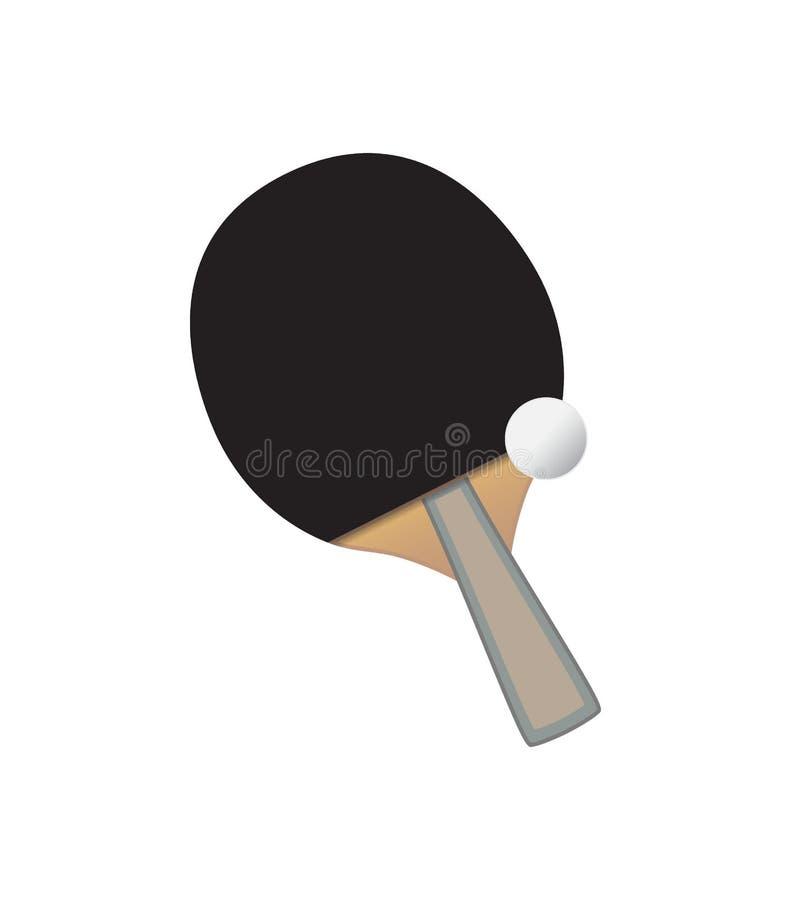Vector Table tennis bat and ball vector illustration
