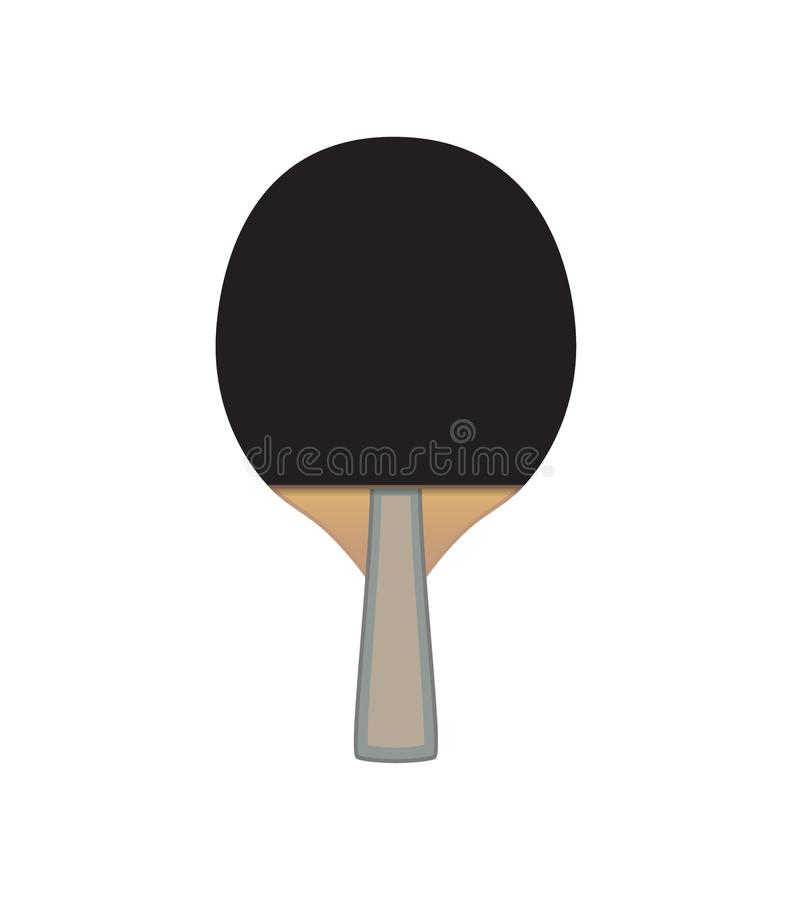 Vector Table tennis bat isolated on white background royalty free illustration
