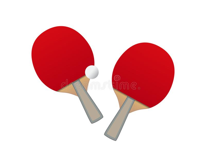 Vector Table tennis bats and ball stock illustration
