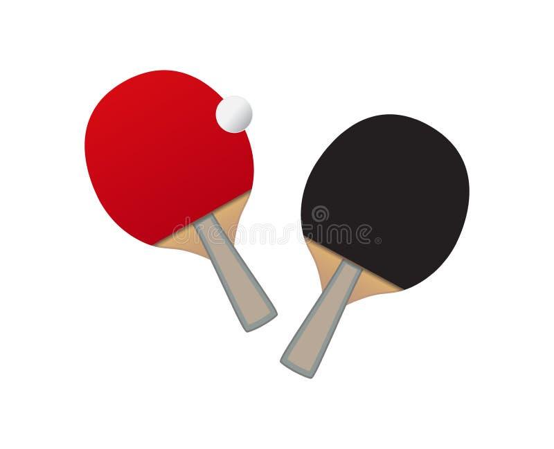 Vector Table tennis bats and ball royalty free illustration