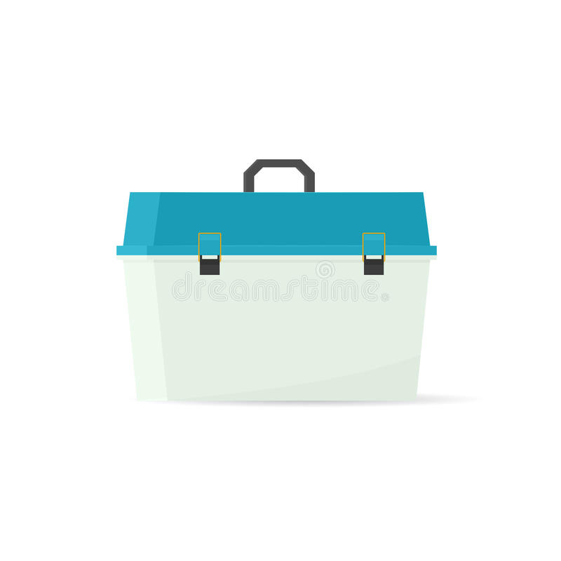 Vector tackle box stock illustration