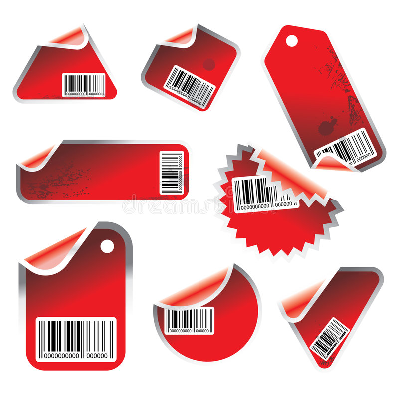 Download Vector tag and sticker set stock vector. Image of curl - 4908245