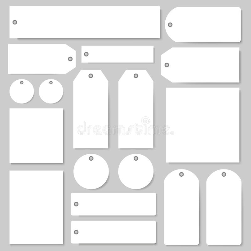 Vector tags and labels with empty copy space set stock illustration