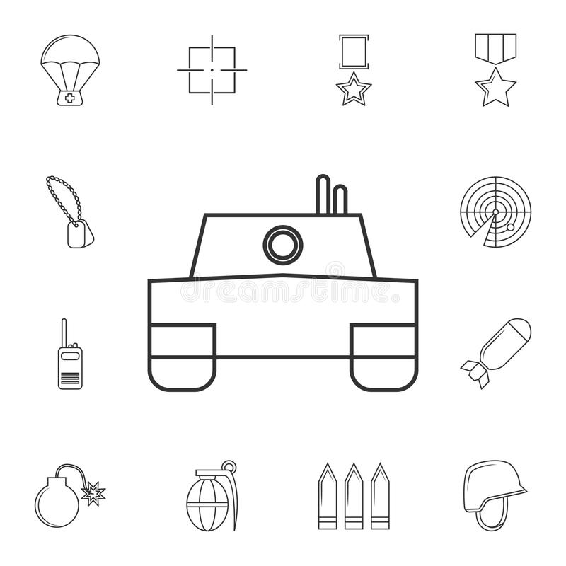 Vector tank Icon .Element of popular army icon. Premium quality graphic design. Signs, symbols collection icon for websites, web vector illustration