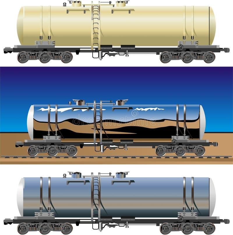 Vector tanker cars stock illustration