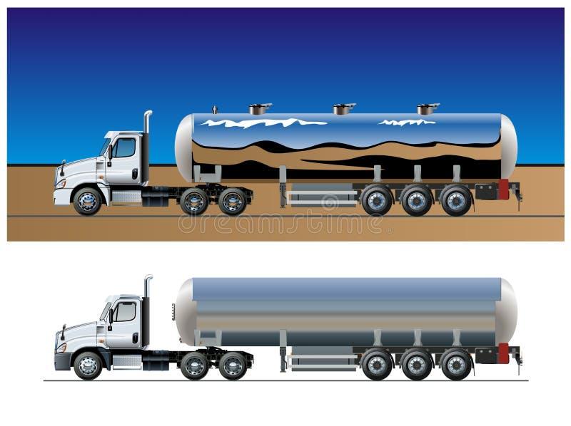 Vector tanker truck template stock illustration