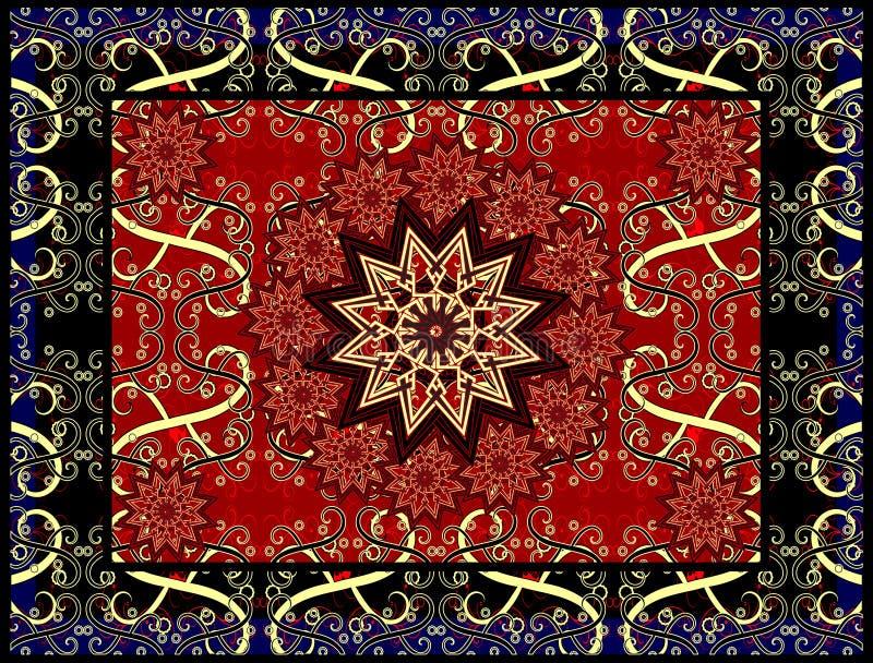 Vector tapijt royalty-vrije illustratie