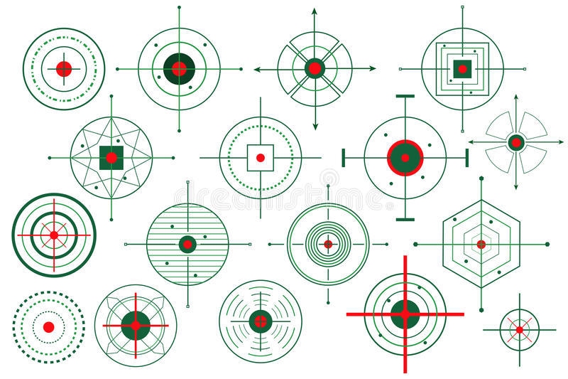Vector Target Crosshair. Vector illustration of collection of different target crosshair vector illustration