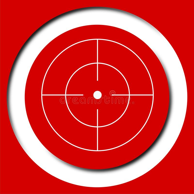 Vector target icon, Crosshair. Vector icon royalty free illustration
