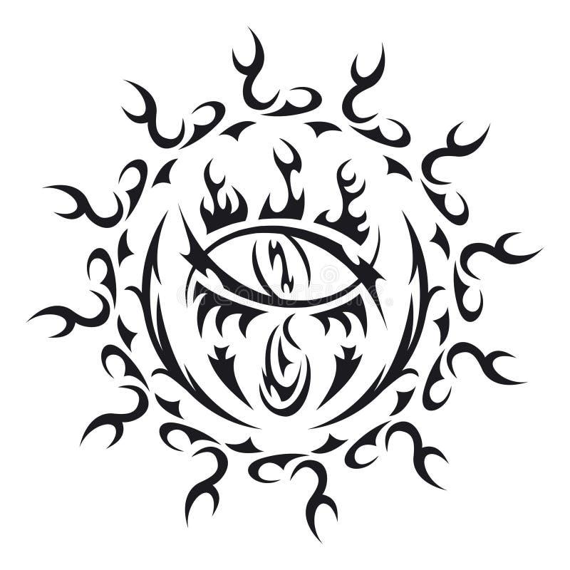 Vector tattoo eye royalty free stock photo