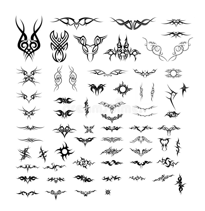 Free Vector Tattoos - Tribal And Celtic Stock Photos - 2497013
