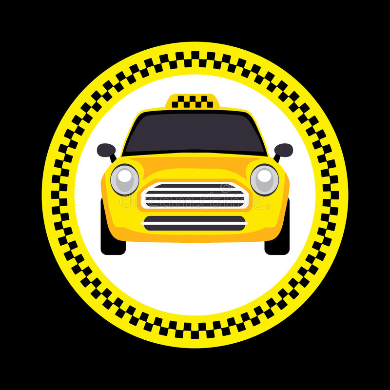 Download Vector of a taxi stock vector. Illustration of city, public - 25366103