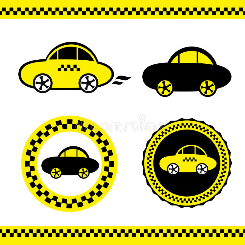 Vector of a taxi. Vector illustration, Vector of a taxi royalty free illustration